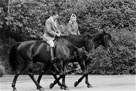 Queen Elizabeth II, Ronald Reagan