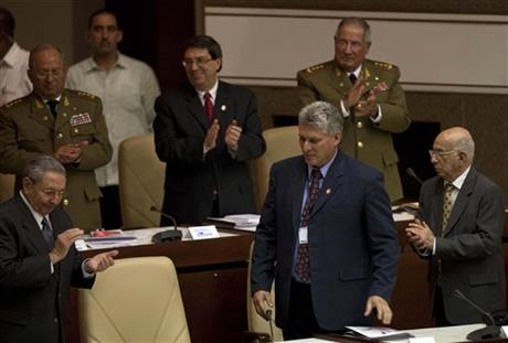 Raul Castro, Miguel Diaz Canel, Jose Ramon Machado Ventura