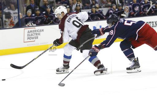 Avalanche Blue Jackets Hockey