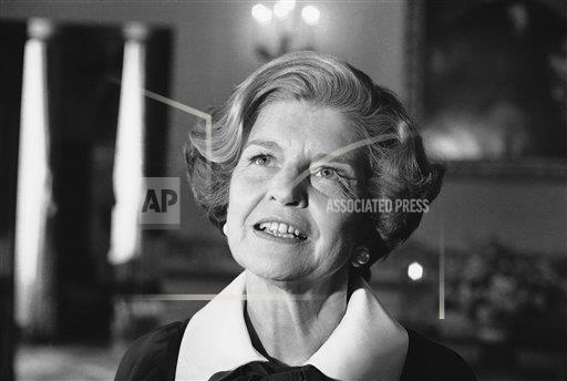 Watchf Associated Press Domestic News  Dist. of Col United States APHS159061 Betty Ford