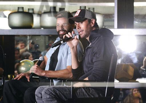 Enrique Iglesias and Ricky Martin Press Conference