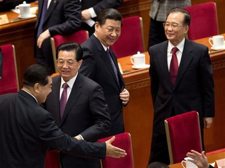 Xi Jinping, Hu Jintao, Wen Jiabao, Jia Qinglin