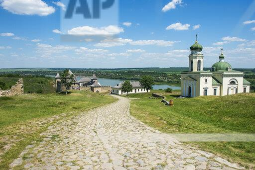 Khotyn Fortress on the river banks of the Dniester, Ukraine