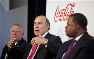 Muhtar Kent, Nathan Deal, Mayor Kasim Reed