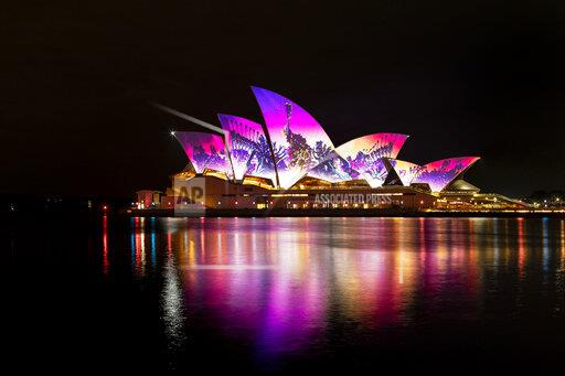 Sydney Is Lit Up With An Array Of Colours During Spectacular Lights Festival