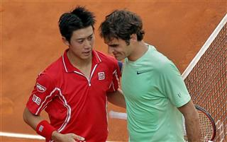 Kei Nishikori, Roger Federer