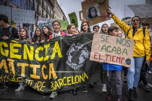 Fridays For Future protest in Barcelona, Spain - 24 May 2019