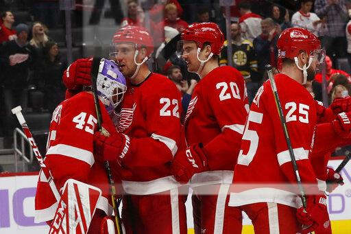 Bruins Red Wings Hockey