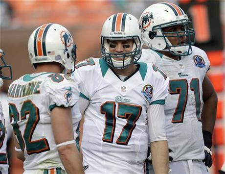 Ryan Tannehill, Brian Hartline, Jonathan Martin