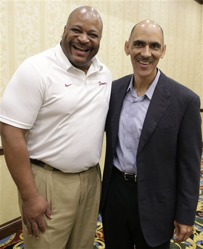 Tony Dungy, Keith Jackson