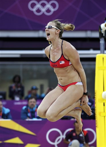 APTOPIX London Olympics Beach Volleyball Women