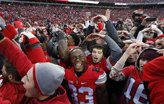 Ohio Stadium Fan Quakes Football