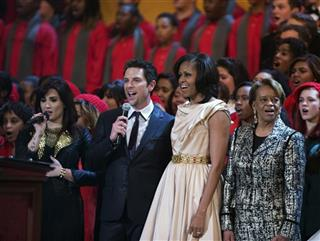 Marian Robinson, Michelle Obama,  Demi Lovato, Chris Mann