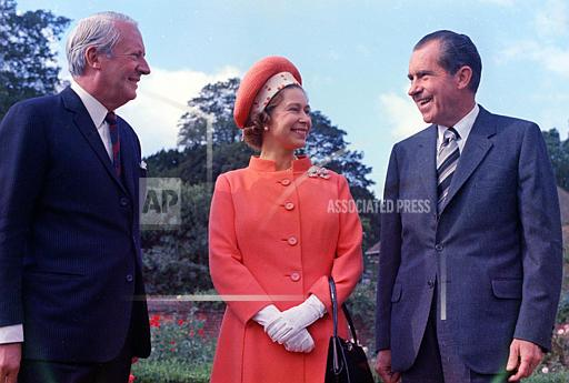 Associated Press International News England QUEEN NIXON HEATH 1970
