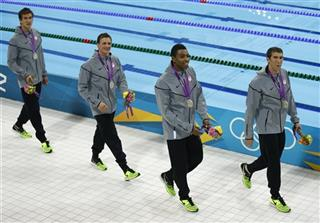 Cullen Jones, Ryan Lochte, Nathan Adrian, Michael Phelps