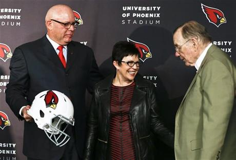 Bruce Arians, Christine Arians, William Bidwill