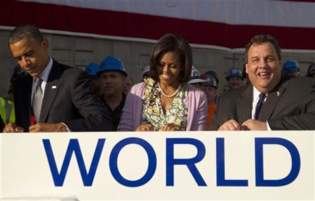 Barack Obama, Michelle Obama, Chris Christie