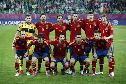 Soccer Euro 2012 Spain Ireland