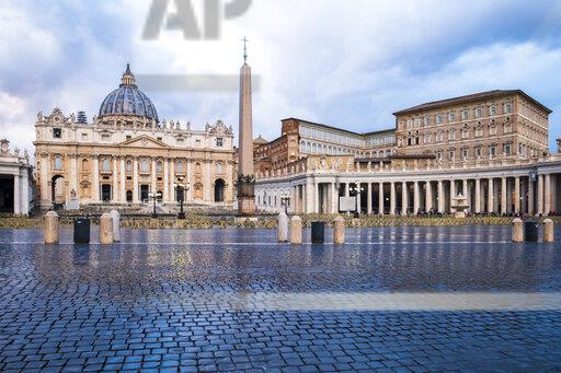 Italy, Rome, View of St. Peter's Basilica and St. peter's square at Vatican