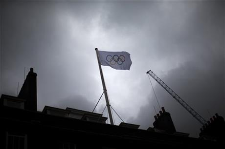 Britain London Olympics Flag