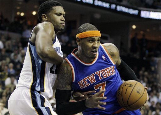 Rudy Gay, Carmelo Anthony
