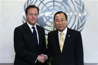 David Cameron, Ban-Ki-moon