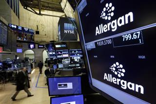 Financial Markets Wall Street Allergan Pfizer