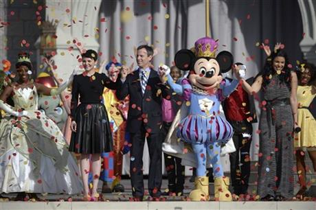 Tom Staggs, Ginnifer Goodwin, Jordin Sparks, Mickey Mouse, Tiana