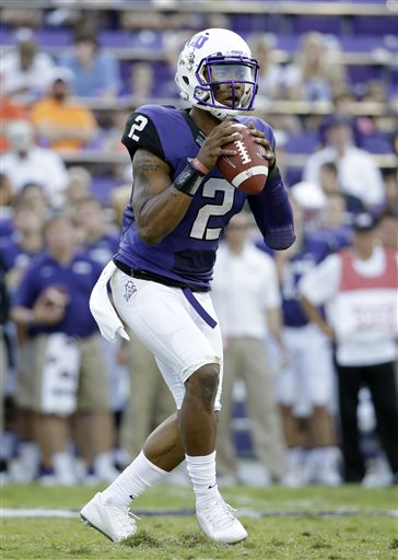 tcu quarterback trevone boykin 2 drops back to pass during the second half of an ncaa college football game against oklahoma state saturday oct 18