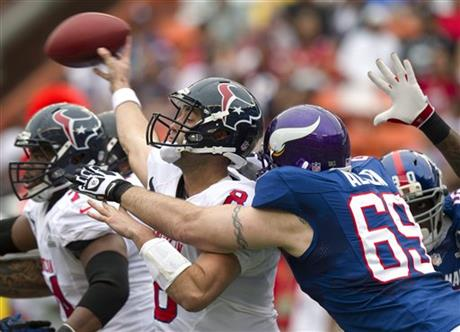 Matt Schaub, Jared Allen