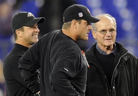 John Harbaugh, Jim Harbaugh, Jack Harbaugh