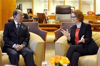 Thein Sein, Julia Gillard