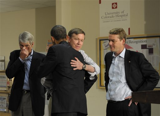 Barack Obama, John Hickenlooper, Mark Udall, Michael Bennet