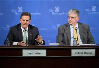 Robert Rector, Jim DeMint