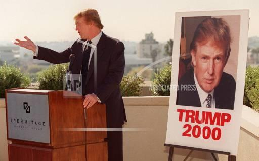 Associated Press Domestic News California United States Election campaigns TRUMP 2000