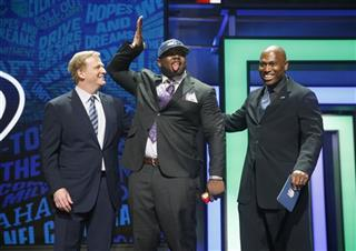 Jarran Reed, Roger Goodell, Shaun Alexander