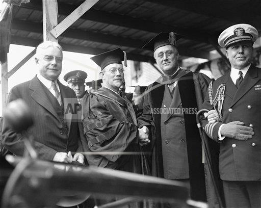 Watchf Associated Press Domestic News  Maryland United States APHS127702 FDR Receives Honorary Degree 1933
