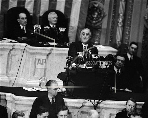 """Watchf Associated Press Domestic News  Dist. of Col United States APHS115476 Franklin D Roosevelt          """"State of Union""""      1939"""