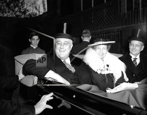 Watchf AP   DC USA APHS357797 Franklin D. Roosevelt and Eleanor Roosevelt