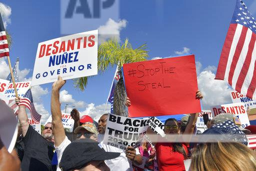 Protesters Gather at The Broward County's Election Headquarters