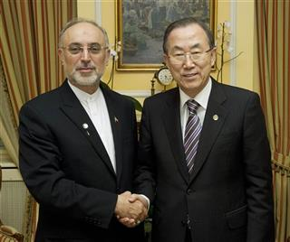 Ali Akbar Salehi; Ban Ki-moon