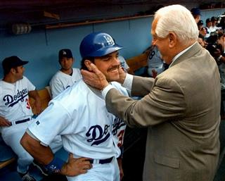 Mike Piazza, Tommy Lasorda