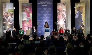 John Kerry, Michelle Obama, Malalai Bahaduri, Julieta Castellanos, Josephine Obiajulu Odumakin, Elena Milashina, Fartuun Adan, Teresa Heinz Kerry, Wendy Sherman