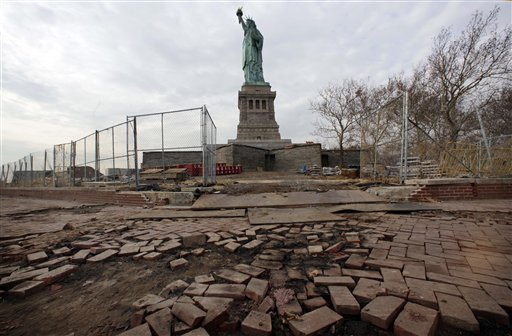 Superstorm Liberty Island