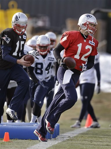 Ryan Mallett, Deion Branch, Tom Brady
