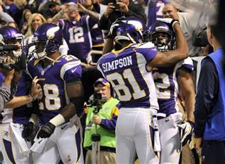 Percy Harvin, Jerome Simpson, Adrian Peterson