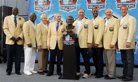 Ralph Wilson Jr. Thurman Thomas, Marv Levy, Joe DeLamielleure, James Lofton, Billy Shaw, Jim Kelly