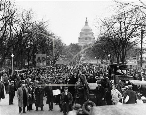 Watchf AP A  DC USA APHS266349 Great Depression Hunger March 1932