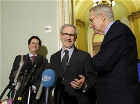 Harry Reid, Steven Spielberg, Tony Kushner