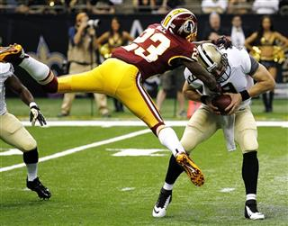 Drew Brees, DeAngelo Hall